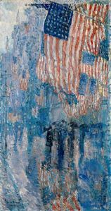 """The Avenue in the Rain"" by Frederick Child Hassam, 1917"