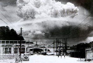 Nagasaki, 20 Minutes After the Atomic Bomb Explosion in 1945
