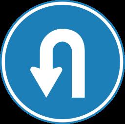 256px-Korean_Traffic_sign_(U-Turn).svg