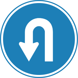 256px-Korean_Traffic_sign_(U-Turn).svg