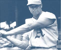 Hall of Famer Jimmy Foxx. The photo was probably taken in the late 1920s or early 1930s.