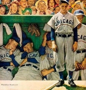 """The Dugout"" by Norman Rockwell"
