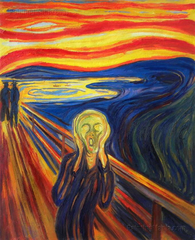 "A fan returning home after a recent baseball game, aka ""The Scream"" by Edvard Munch."