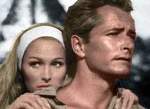 Ursula Andress and John Derek
