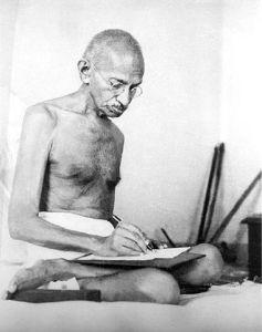 380px-Gandhi_writing_1942