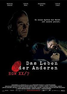"""The Original Poster for the German Film, """"The Lives of Others"""""""